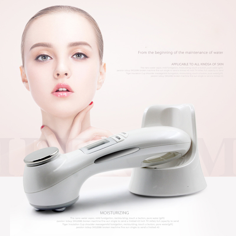 NEW No Needle Mesotherapy Photon LED Light Skin Rejuvenation Double Facial RF Radio Frequency Face Lift Massager Beauty Care