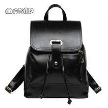 Miwind полноценно кожаные сумки Новинки для женщин рюкзак женщины шнурок мешок Бесплатная доставка рюкзаки для девочек-подростков Mochila Mujer