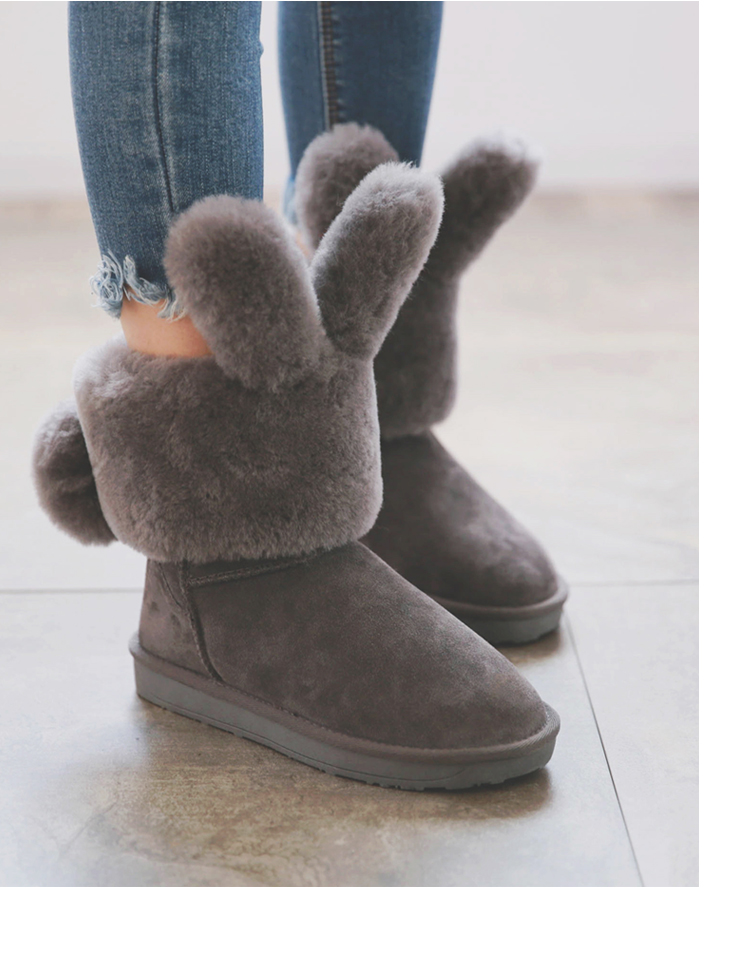 100% Genuine Sheepskin Leather Winter Boots Fashion Snow Boots for Women Warm Boots Natural Fur Women Boots