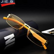 316762da07 Anti blu ray gafas de lectura hombres anti fatiga gafas de dioptría a  prueba de radiación