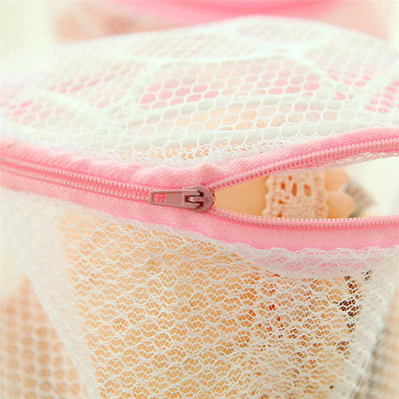 Uso doméstico De Lavagem Lingerie Malha Vestuário Roupa Interior Saco De Lavagem Organizador Útil Malha Net Saco de Lavagem Sutiã Saco de Roupa Suja com zíper 2019