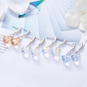 Image 3 - Boucles doreilles en argent Sterling Cdyle 925 ornées de boucles doreilles en cristal bijoux boucles doreilles géométriques
