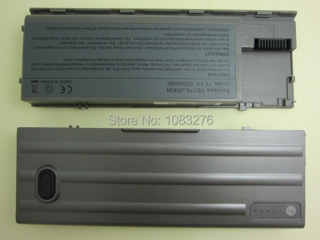 5200mAh Laptop Battery For Dell Latitude D620 D630 D631 M2300 KD491 KD492 KD494 KD495 NT379 PC764 PC765 PD685 RD300 TC030