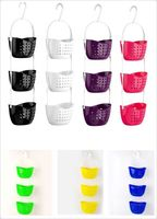 Plastic Basket Basket Basket Bathroom Three Pack Containing High Quality PP Material Convenient
