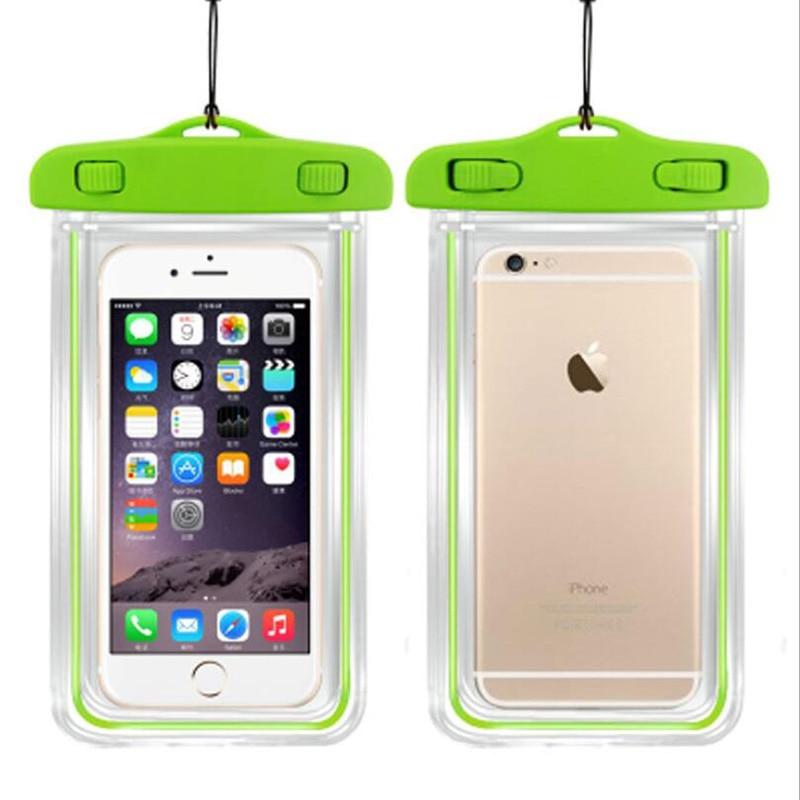 Bolsa impermeable con bolsa luminosa de teléfono bajo el agua para - Accesorios y repuestos para celulares - foto 3