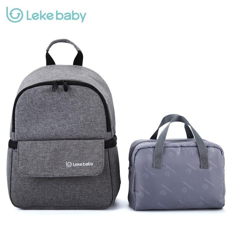 Bolsa de aislamiento térmico de Lekebaby bolsa de almacenamiento de leche materna mochila de biberón bolsas frescas para el cuidado del bebé mamá y los niños