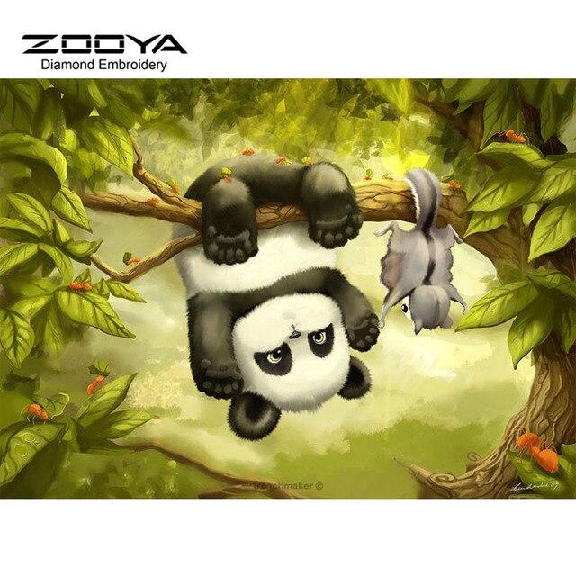 5D DIY Diamond Painting Panda Diamond Painting Cross Stitch Naughty ...