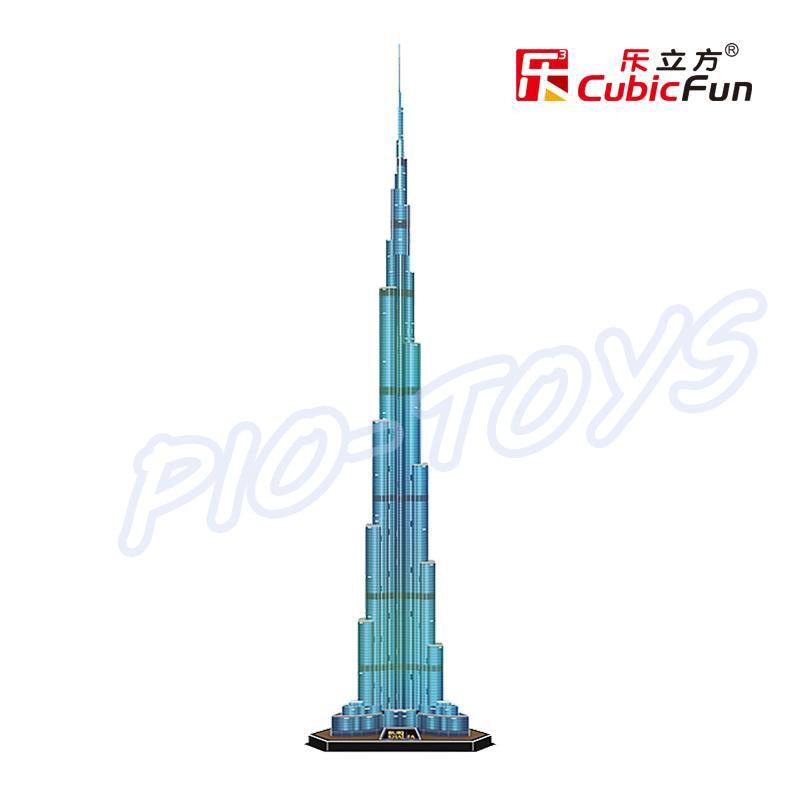 Nyttårsgave Burj Khalifa 3D-puslespillmodellbygging LED-tårn DIY - Puslespill - Bilde 3