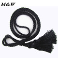 2017 New Korean Women Belts Simple Wild Tassels Waist Rope Braided Cinto Feminino Elegant Waist Decoration