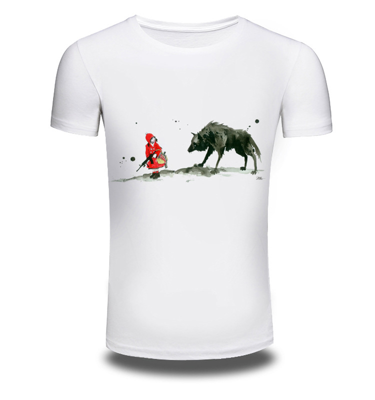Brand Clothing Anime 3D Print Men Short Sleeve T Shirt Men Wolf Top Shirts T-shirt Off White Summer T-shirts Sale Items AW210