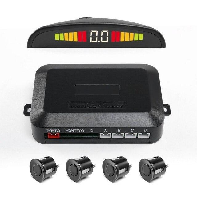 4 قطعة نظام وقوف السيارات أجهزة الاستشعار مع مؤشر عرض LED السيارات عكس الرادار رصد كاشف طول العمر وقوف السيارات الاستشعار
