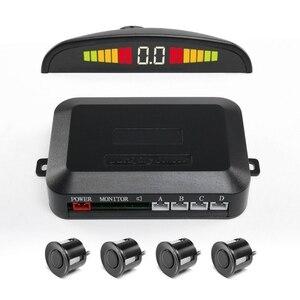 Image 1 - 4PCS Car Parking Sensors System With LED Display Indicator Auto Reversing Radar Monitor Detector Longevity Auto Parking Sensor