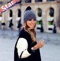 Estilo Europeo de las mujeres de malla de punto gorro de invierno sombrero retro de malla velo del sombrero