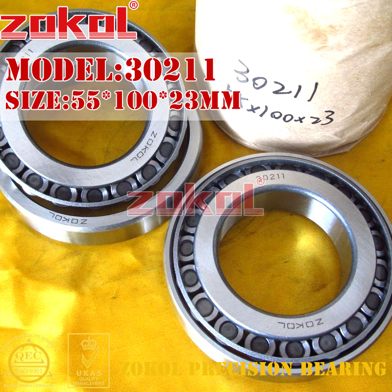 ZOKOL bearing 30211 7211E Tapered Roller Bearing  55*100*23mm na4910 heavy duty needle roller bearing entity needle bearing with inner ring 4524910 size 50 72 22