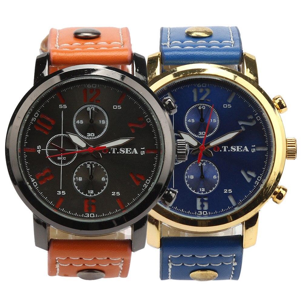 Men's Sports Quartz Watches Mens Watches Top Brand Luxury Leather Wristwatches Relogio Masculino Men Curren Watches 2018