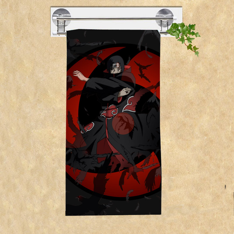Removing Shower Towel Anime: Naruto_Sharinga Of Uchiha Itachi Print Bamboo Fiber