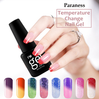 Paraness perfect 8ml Gel Nail Polish Temperature Changing Mood lucky Color Gel Lacquer Long Lasting UV Gel Nail Polish