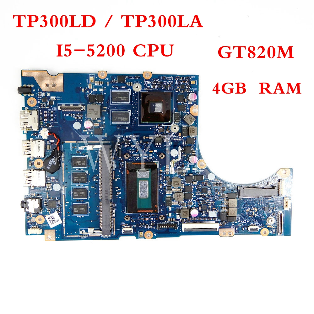 TP300LD With GT820M 2GB I5-5200CPU 4GB RAM mainboard For ASUS TP300LA TP300LJ TP300 Q302L Q302LA laptop motherboard TestedTP300LD With GT820M 2GB I5-5200CPU 4GB RAM mainboard For ASUS TP300LA TP300LJ TP300 Q302L Q302LA laptop motherboard Tested