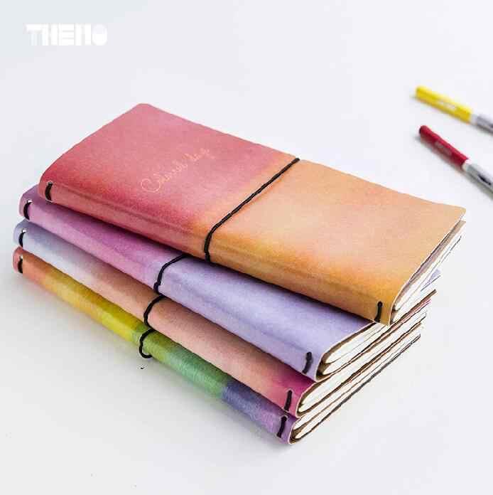 8 cái/lốc Sáng Tạo Đầy Màu Sắc Ngày PU Leather Bìa Kế Hoạch Xách Tay Nhật Ký Sổ Thành Phần Ràng Buộc Note Notepad Quà Tặng Văn Phòng Phẩm