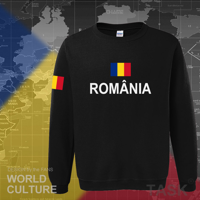 Romania Romanian ROU hoodies men sweatshirt sweat new hip hop streetwear tracksuit nation footballer sporting 2017 country 1