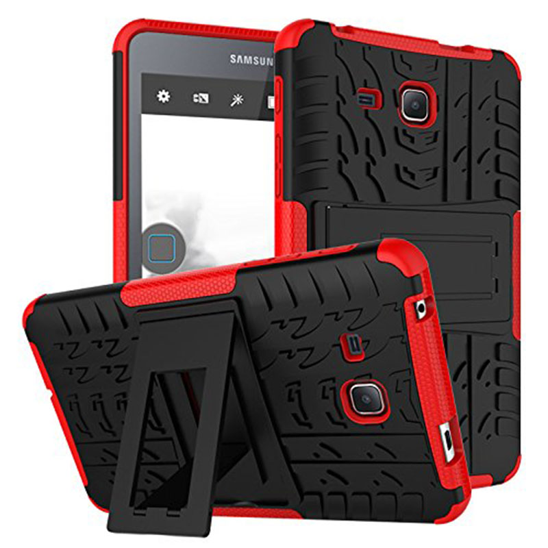 For Samsung Galaxy Tab A 7.0 T280 T285 Case Shockproof Hybrid Protective Case Cover with Kickstand for SM-T280 T285 Funda Case hh xw dazzle impact hybrid armor kickstand hard tpu pc back case for samsung galaxy tab a 8 0 inch p350 p355c t350 t355 sm t355