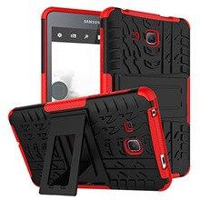 Para Samsung Galaxy Tab 7.0 T280 T285 Caso A Prueba de Golpes Hybrid Funda Protectora Funda con Pata de Cabra para SM-T280 T285 caso