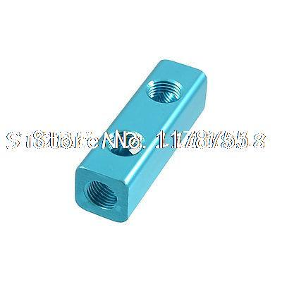 15/32 Thread Ports 2 Way Quick Connect Air Hose Manifold Block air conditioner part 3 way valve 1 4npt thread single manifold gauge 220psi