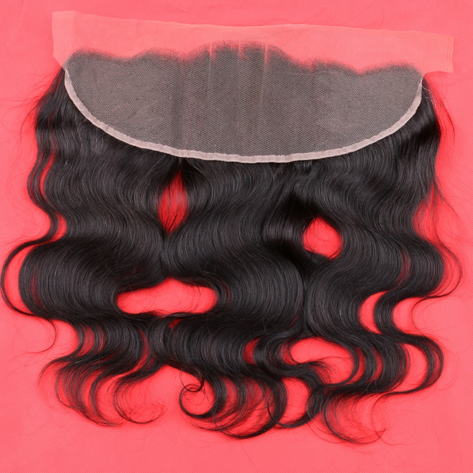 13x4 Peruvian Ear to Ear Lace Frontal Closure With Baby Hair 7A Grade Body Wave Lace Frontal Bleached Knots Free Middle <font><b>3</b></font> Part