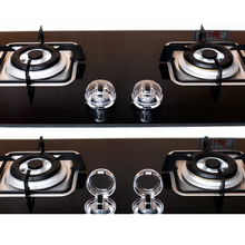 Gas-Knob-Covers Safety-Locks Stove Kitchen Protector-Gas Clear Child Dropship 2pcs/Lot