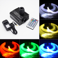 LED RGBW Source Light Engine Star For Home Driver Decorative Optical Optic Fiber Multi Mode Car DIY Glow RF Remote Controller