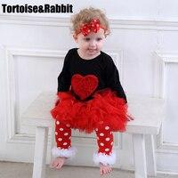 Newborn Baby Bodysuit Sets Long Sleeve Cartoon Romper Tutu Skirt Set Babys Girls Princess Pettiskirt Clothes
