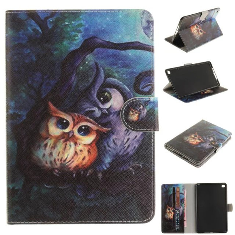 Tablet Case For iPad Mini 4 Covers Fashion Painted Flip Stand PU Leather Wallet Bag Card For iPad Mini 4 Tablets