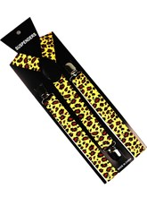 2019 New  Womens Yellow Leopard Print Y-Back Adjustable Elastic Brace 2.5cm Wide Suspenders Clothing Accessory