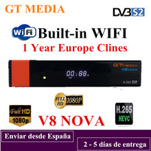 GTMedia V8 Nova Full HD H.265 DVB-S2 decoder Satellite Receiver 1 Year Europe Spain Cccam Cline Same Built Wifi Freesat V9 Super dvb s2 1080p hd v8 nove satellite tv receiver with 1 year cccam clines iks full hd h 265 freesat v8 nove sat decoder youtube