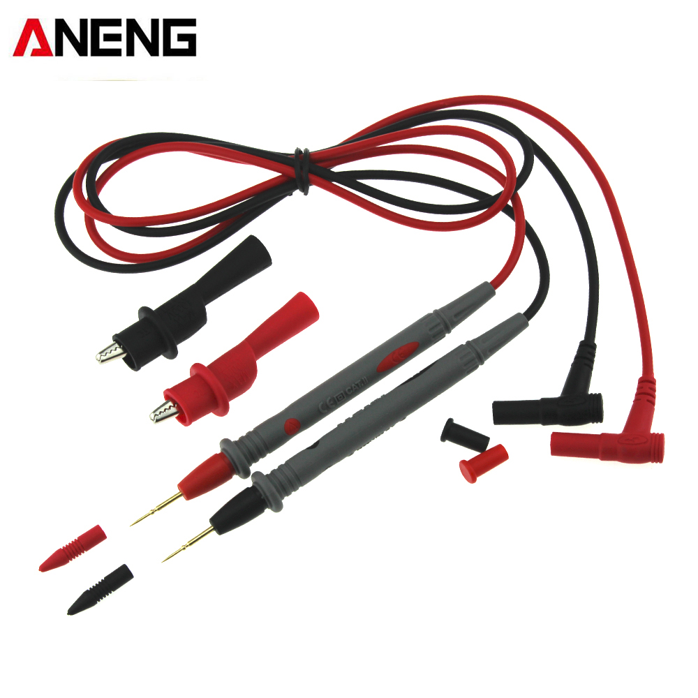 ANENG Digital Multimeter Probe Test Lead 1000V 10A with Alligator Clips Clamp Cable Tester Lead Probe Wire Pen Mayitr power supply test lead cable kit 2 alligator clips 2 banana plugs 4 hook clips mayitr test lead hook cable 650mm for cell phones