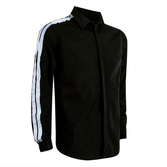 Long Sleeve Button Down Strip Shirt 3