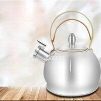 Высокое качество Нержавеющаясталь чайник gs-04043g автоматический Свистки большой Ёмкость чайник индукции Плита газа, горячей воды Kottle 3l