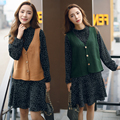 2016 new spring Sen female all-match retro single breasted cardigan sweater knitted vest short vest vest women