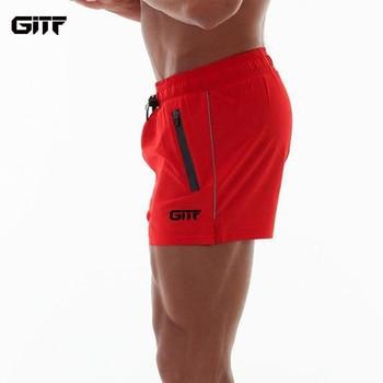 GITF Men Sport Shorts Run jogging Trousers Bodybuilding Sweatpants Training Fitness ShortS Men Gym Soccer Basketball short Pants
