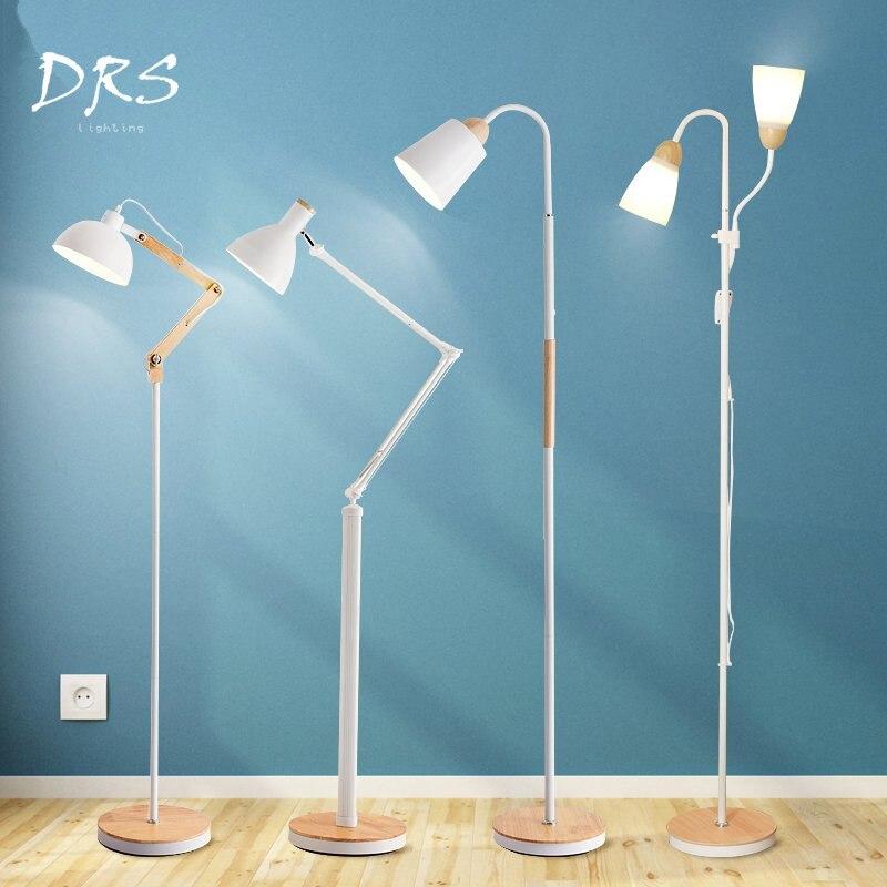 Modern Floor Lights Standing Lamps For Living Room Loft: Nordic Modern Living Room LED Solid Wood Decorative Floor