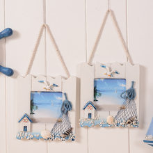 DIY Wooden Frame Hanging Frame Romantic Design Foto Quadro Moldura Hanging On Wall Porta Picture Frames marco fotos colgar(China)