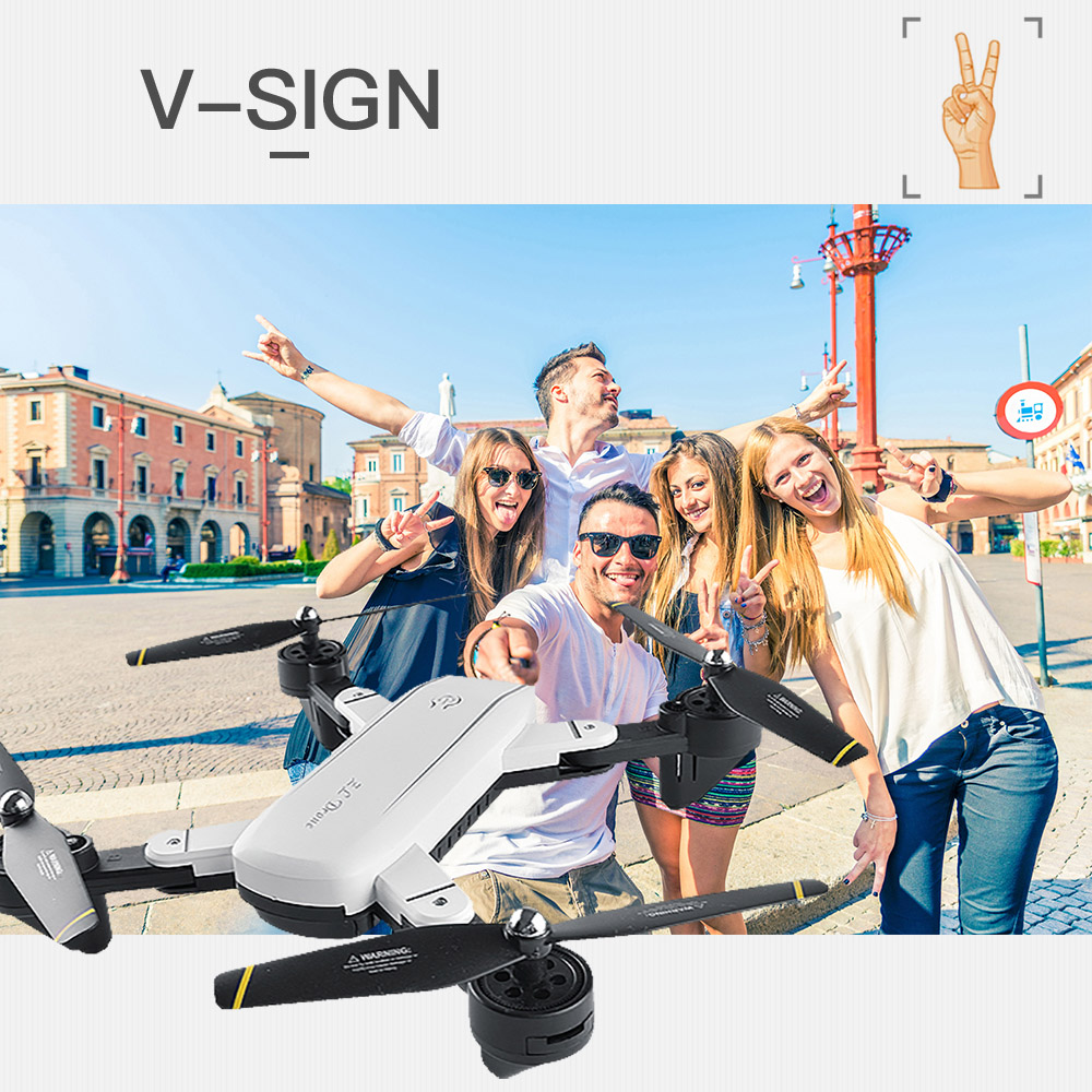 Wifi Foldable Selfie Drone w/ Altitude Hold & Headless Gesture Control 2