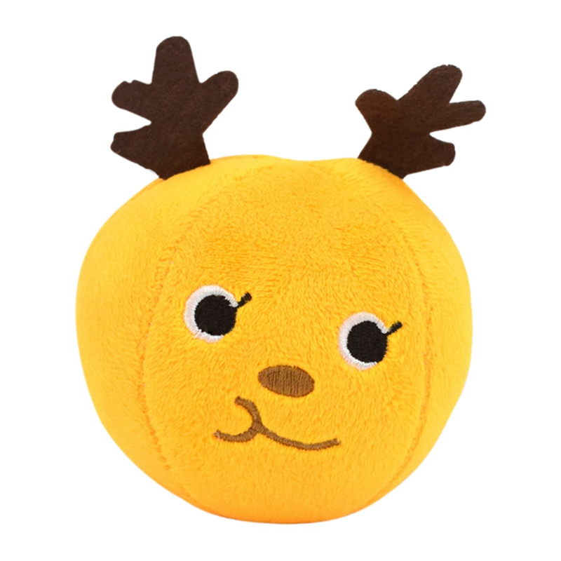 1pc Pet Dog Bite resistant Chew Toy Plush Ball Shaped Squeaky Interactive Toy for Training IQ Toy Yellow Blue Red Green in Dog Toys from Home Garden