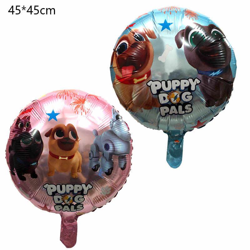 5 ピース子犬犬仲間ホイルバルーン誕生日パーティーの装飾兄弟ビンゴと Rolly グロボスのおもちゃ風船
