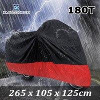 X AUTOHAUX Colorful Universal 180T Rain Dust Motorcycle Cover Blue Black Outdoor Rainproof UV Resistant Protector