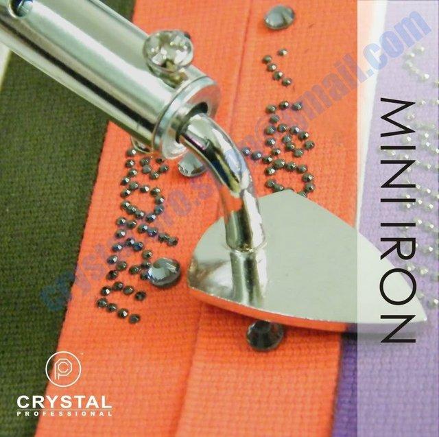 Mini iron Hotfix Rhinestones Applicator Wand Machine Hot-fix Iron On Crystal  flat back Nail Art Heater DIY Tools + ( FREE Gift ) 08bc1e2af797