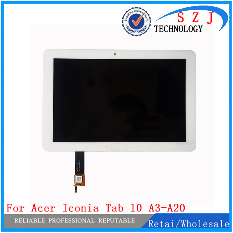 New 10.1'' inch For Acer Iconia Tab 10 A3-A20 A20 LCD Display with Touch Screen Panel Digitizer Sensor Assembly Free Shipping new high quality for acer iconia tab a210 a211 tablet pc 10 1 inch touch screen panel digitizer black free shipping