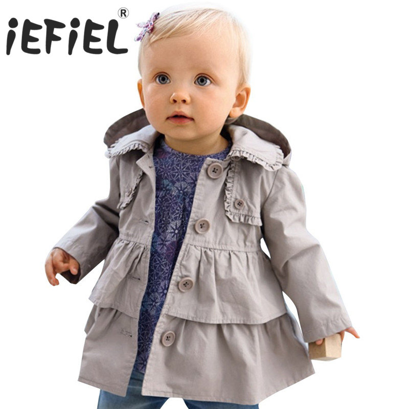 f979b8107 Baby Kids Toddler Girls Autumn Fall Winter Trench Wind Dust Coat ...