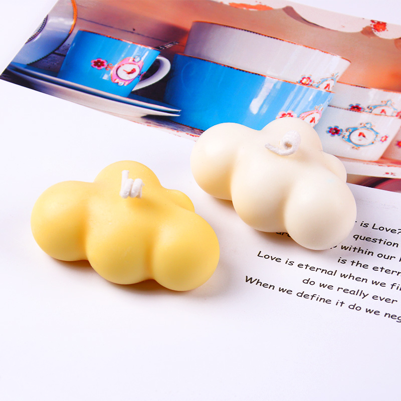 3D Cloud Shape Candle Silicone Molds DIY Gypsum Plaster Mould For Wedding Home Decoration Silicone Soap Candle Molds