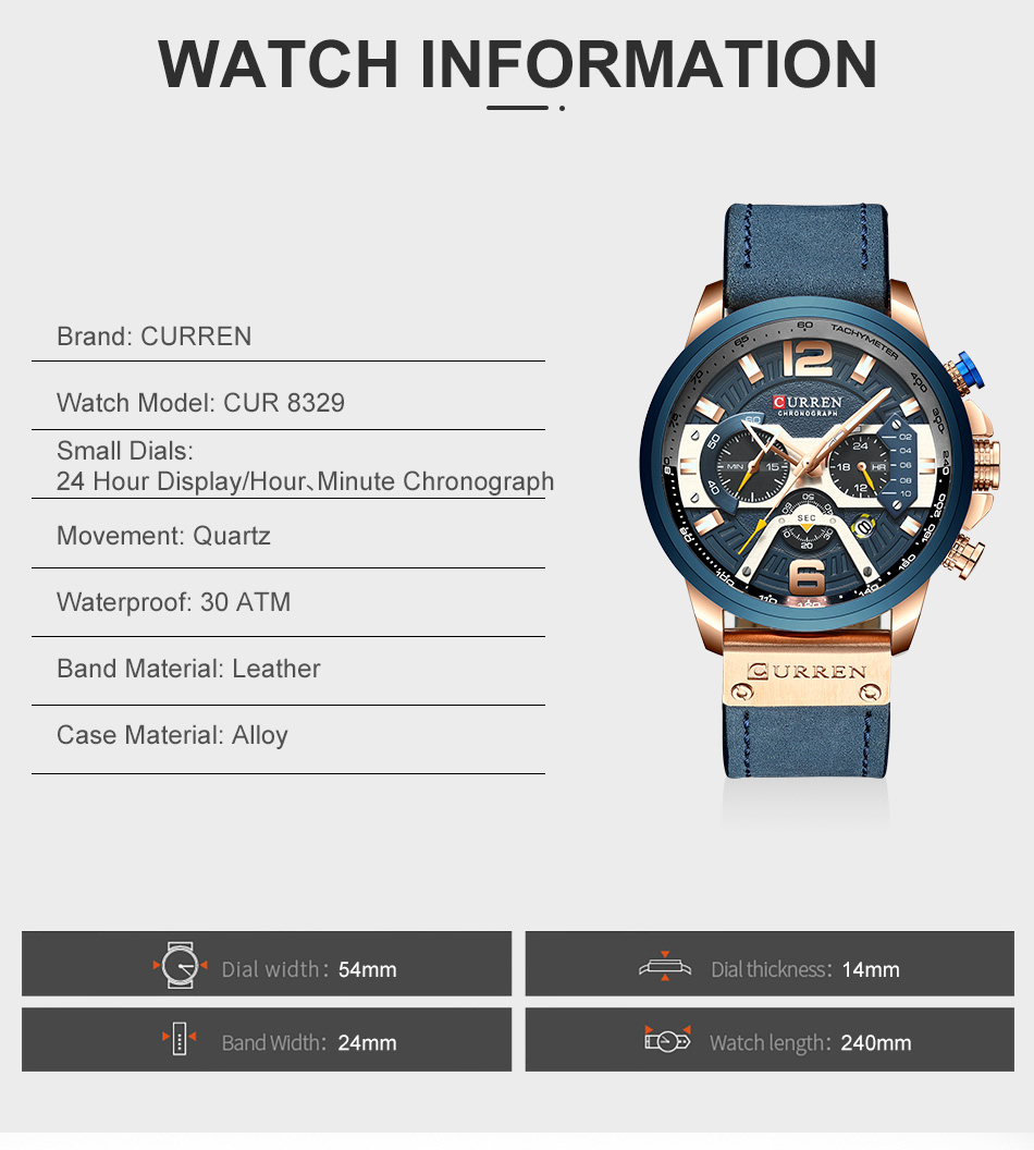 HTB1cp66VNnaK1RjSZFBq6AW7VXaN CURREN Luxury Brand Men Analog Leather Sports Watches Men's Army Military Watch Male Date Quartz Clock Relogio Masculino 2019